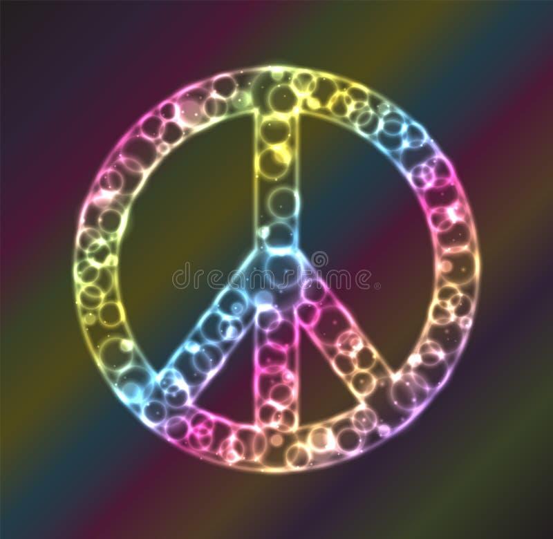 Het Plasma van het vredesteken royalty-vrije illustratie