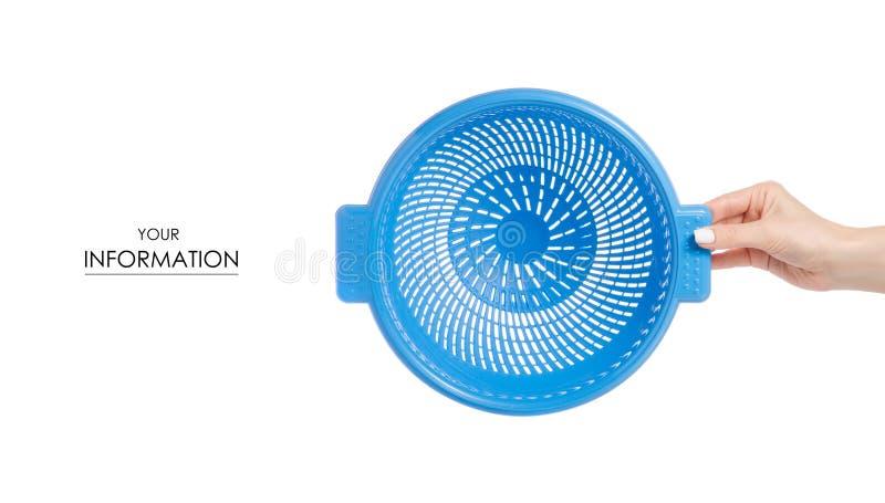 Download Het Plastic In Hand Patroon Van Het Vergiet In Hand Patroon Stock Afbeelding - Afbeelding bestaande uit netwerk, keukengerei: 114228043