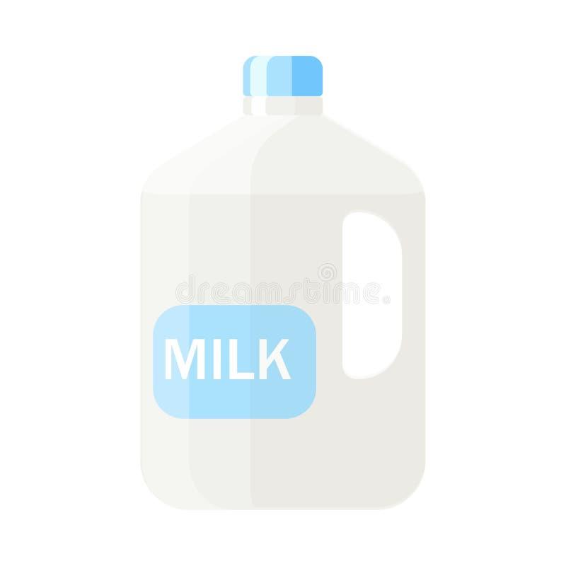 Het plastic karton melk vectorillustratie in vlakke stijl isoleert stock illustratie