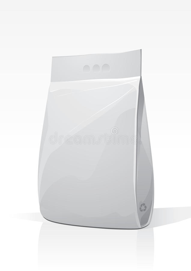 Het plastic poeder van de pakketwas vector illustratie