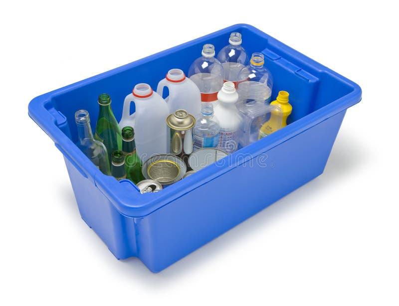 Het plastic Recycling van het Glas van het Metaal stock foto's