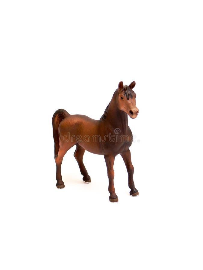 Het plastic stuk speelgoed van het paard royalty-vrije stock foto