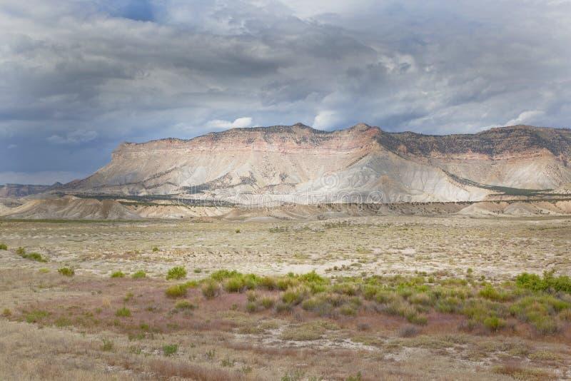Het Plateau van Wasatch van dichtbijgelegen Ferron, Utah stock afbeelding
