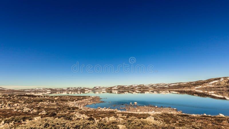 Het plateaulandschap van de Hardangerviddaberg, Noorwegen royalty-vrije stock foto's