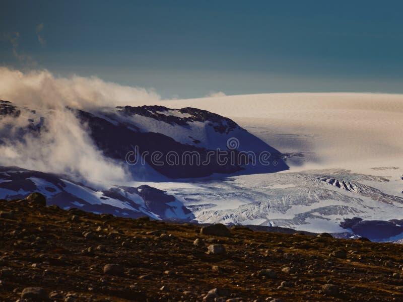 Het plateaulandschap van de Hardangerviddaberg, Noorwegen stock foto