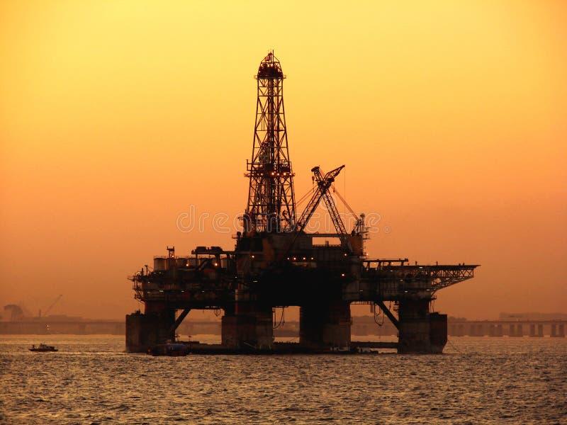 Het Platform van de olie royalty-vrije stock afbeelding