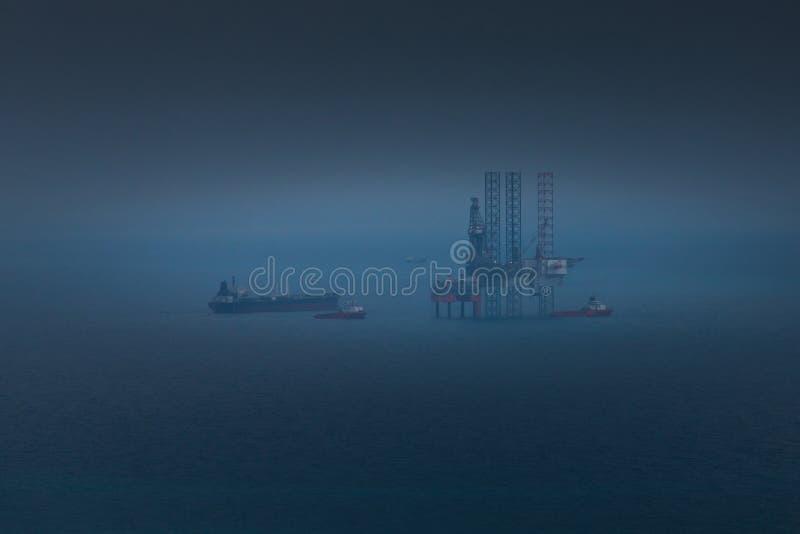 Het platform van de olie royalty-vrije stock foto