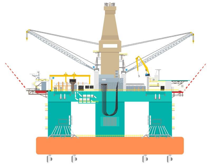 Het platform van de olie vector illustratie