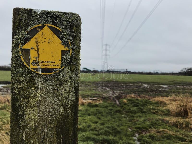 Het platteland van Cheshire stock afbeelding