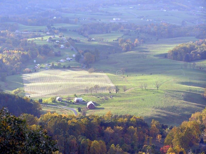 Het Platteland van de daling stock foto