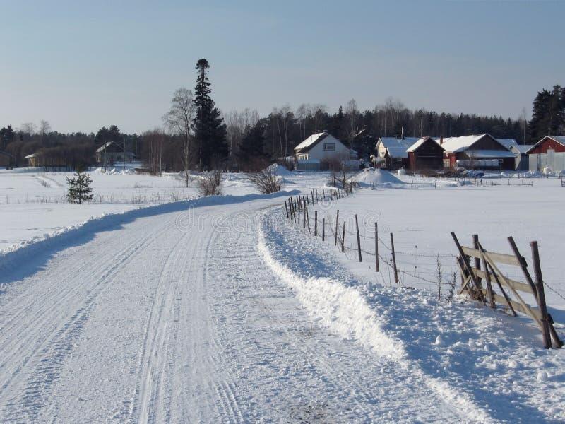 Het platteland van de winter royalty-vrije stock foto