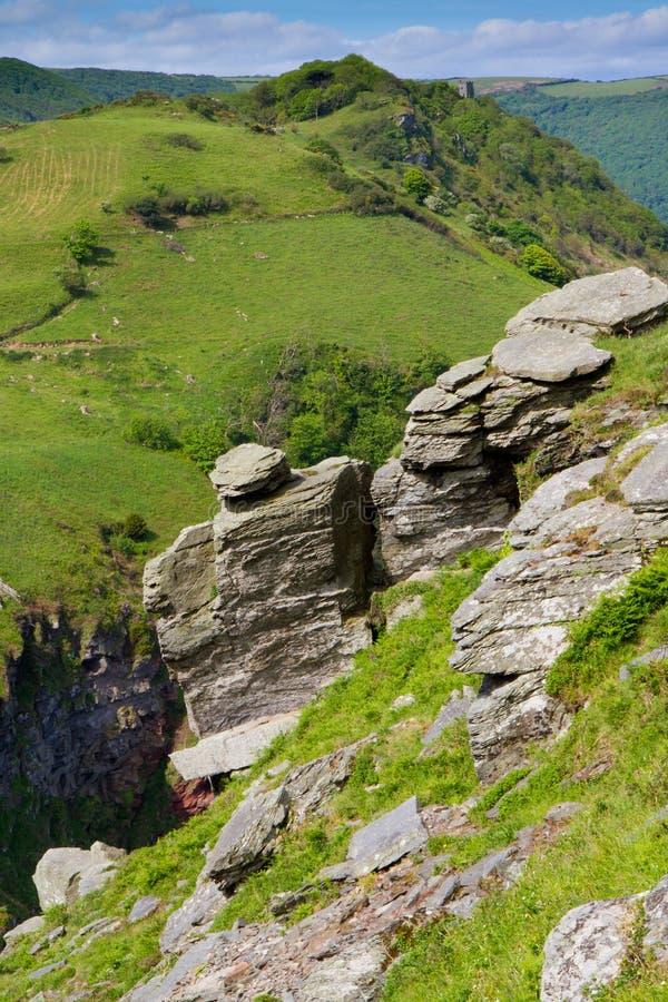 Het platteland van Devon dat van Vallei van Rotsen wordt bekeken royalty-vrije stock fotografie