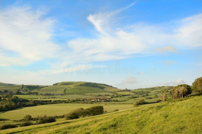 Het platteland van Dorset stock afbeelding