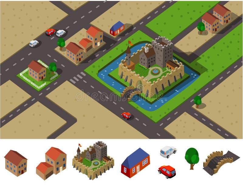 Het platteland van het kasteel stock illustratie