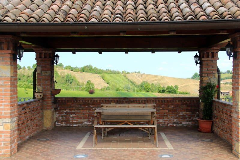 Het platteland van Vald'arda, Piacenza, Italië stock afbeelding