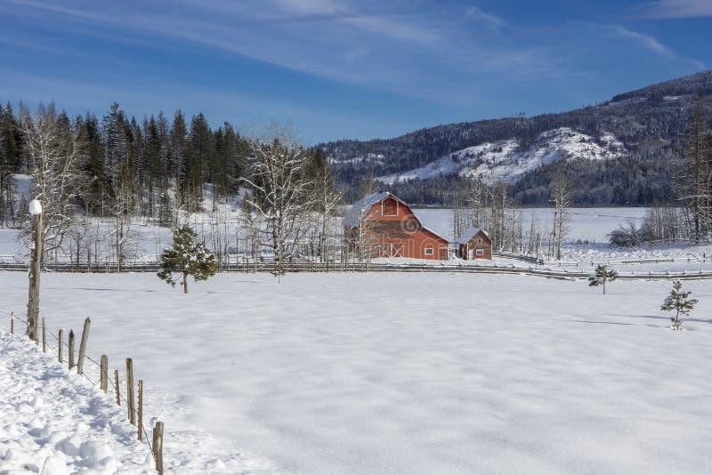 Het plattelandscentrum in Idaho royalty-vrije stock afbeelding