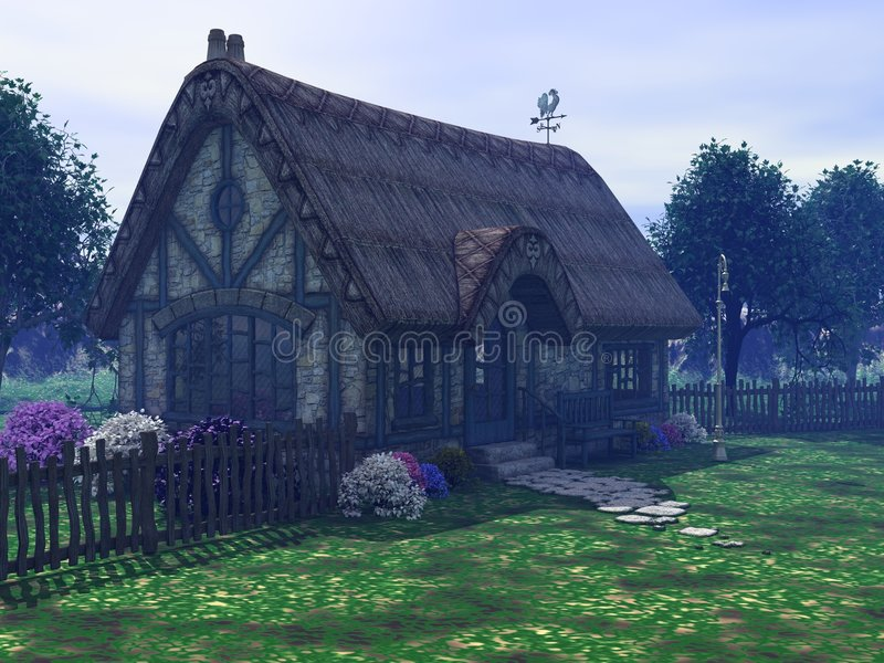 Het plattelandshuisje stock illustratie