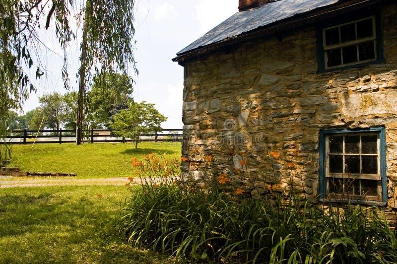 Het Plattelandshuisje van de steen - 4 stock afbeelding