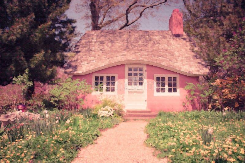 Het plattelandshuisje van Fairytale royalty-vrije stock foto