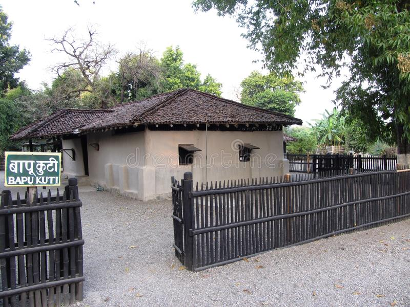 Het plattelandshuisje van Gandhi royalty-vrije stock foto's