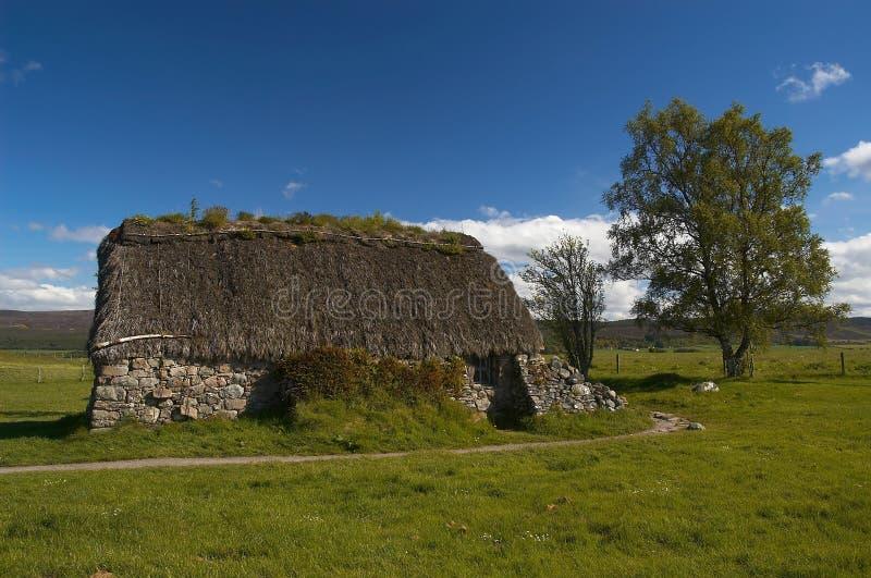 Het Plattelandshuisje van Leanach stock afbeeldingen