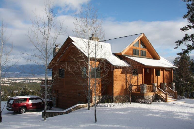 Het plattelandshuisje van Montana royalty-vrije stock afbeelding