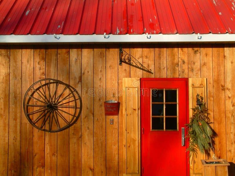 Het plattelandsplattelandshuisje van Quebec royalty-vrije stock foto's