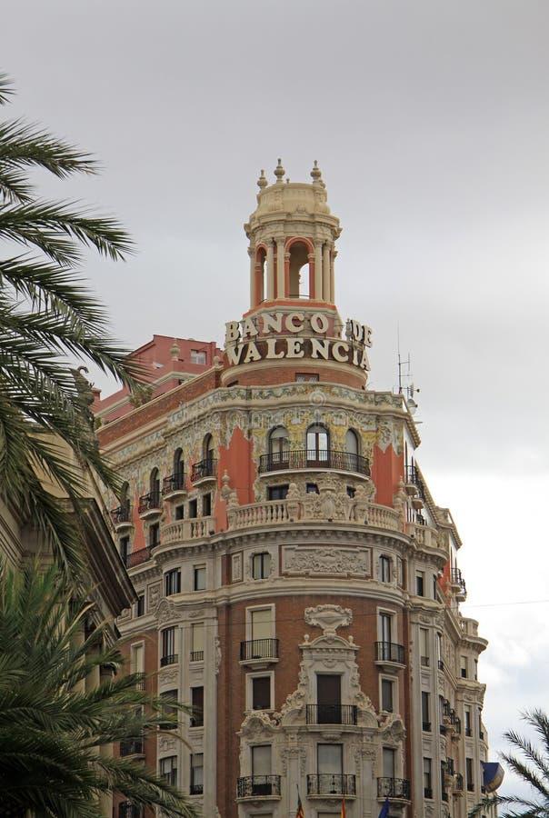 Het Plein del Ayuntamiento - hoofdvierkant van Valencia, Spanje royalty-vrije stock afbeeldingen