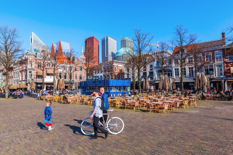 Het Plein della piazza a L'aia, Paesi Bassi fotografie stock libere da diritti