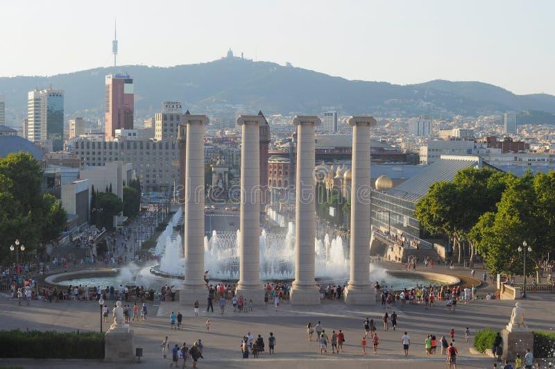 Het plein van Barcelona stock fotografie