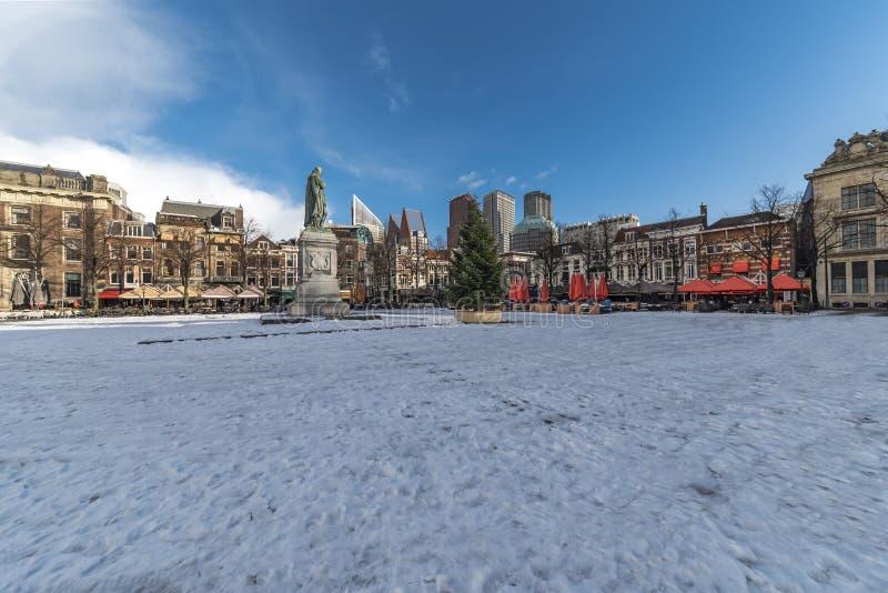 Het Plein-vierkant, centrum van Den Haag stock foto's