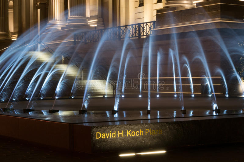 Het Pleinfontein van David H Koch stock foto