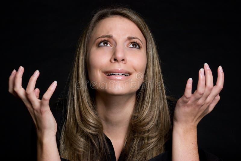 Het pleiten van Vrouw royalty-vrije stock fotografie