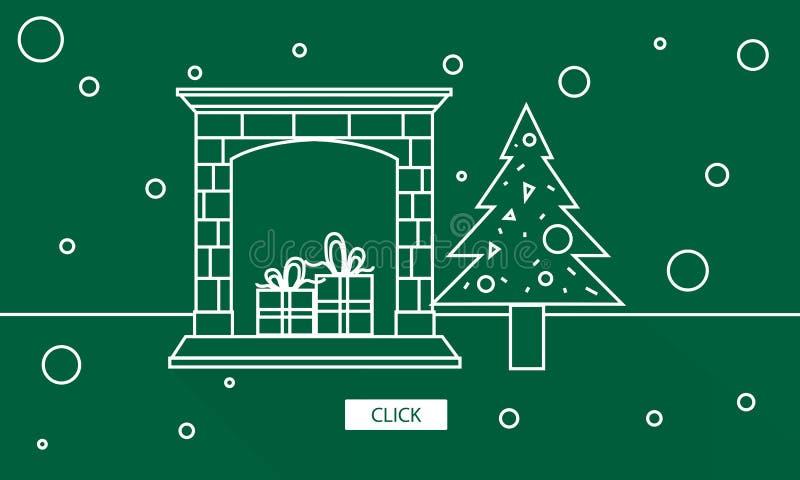 Het Plezier Grafisch Concept van de Kerstmisviering royalty-vrije illustratie