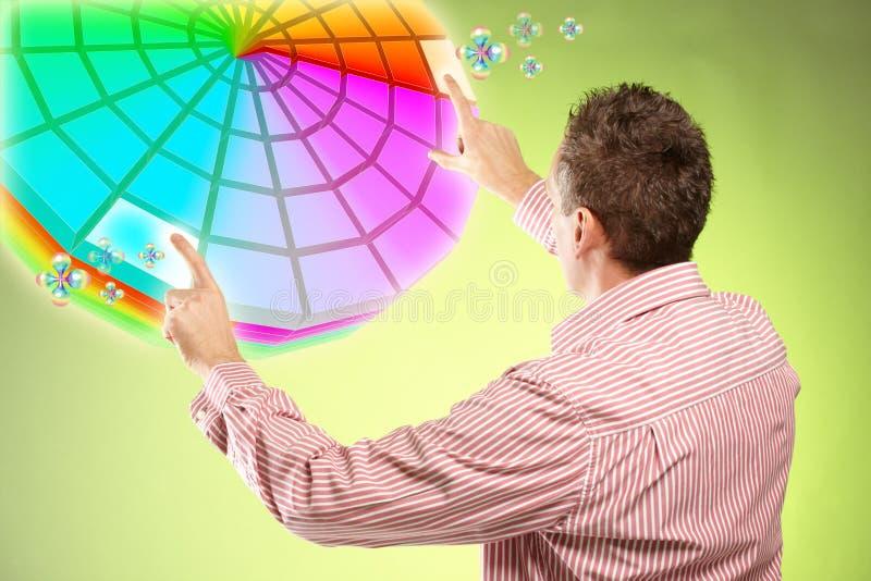 Het plukken van de mens kleuren royalty-vrije stock afbeelding
