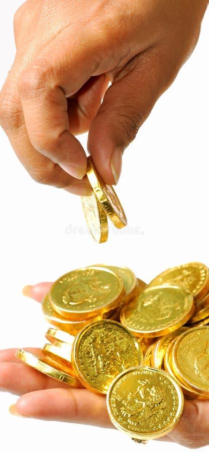 Het plukken van de muntstukken royalty-vrije stock foto
