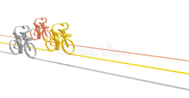 Download Het Podium Van Het Cyclusras Stock Illustratie - Illustratie bestaande uit fiets, fietser: 54079058
