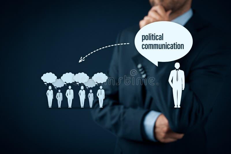Het politieke communicatie effect en concept van de populismebedreiging stock afbeeldingen