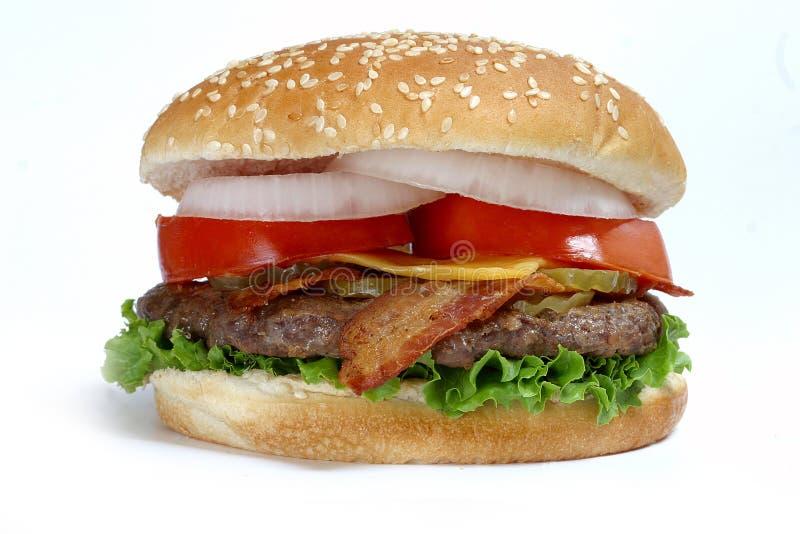 Het pondhamburger van het kwart stock afbeeldingen