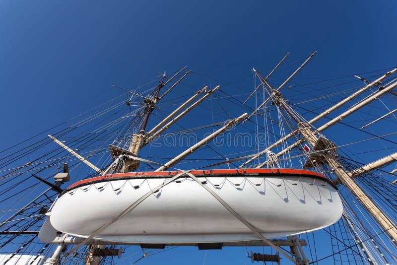 Het schip van het museum in Gdynia royalty-vrije stock afbeelding
