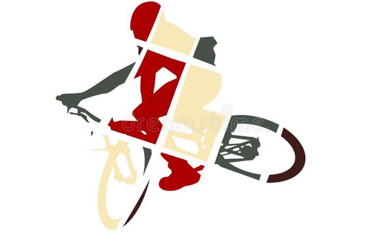 Het pop-artstijl van het fietssilhouet royalty-vrije illustratie