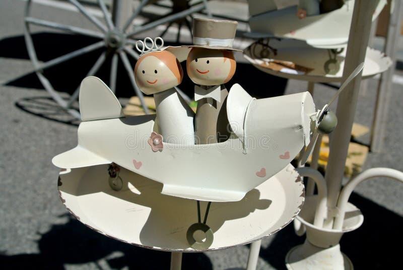 Het poppenhuwelijk stock afbeelding
