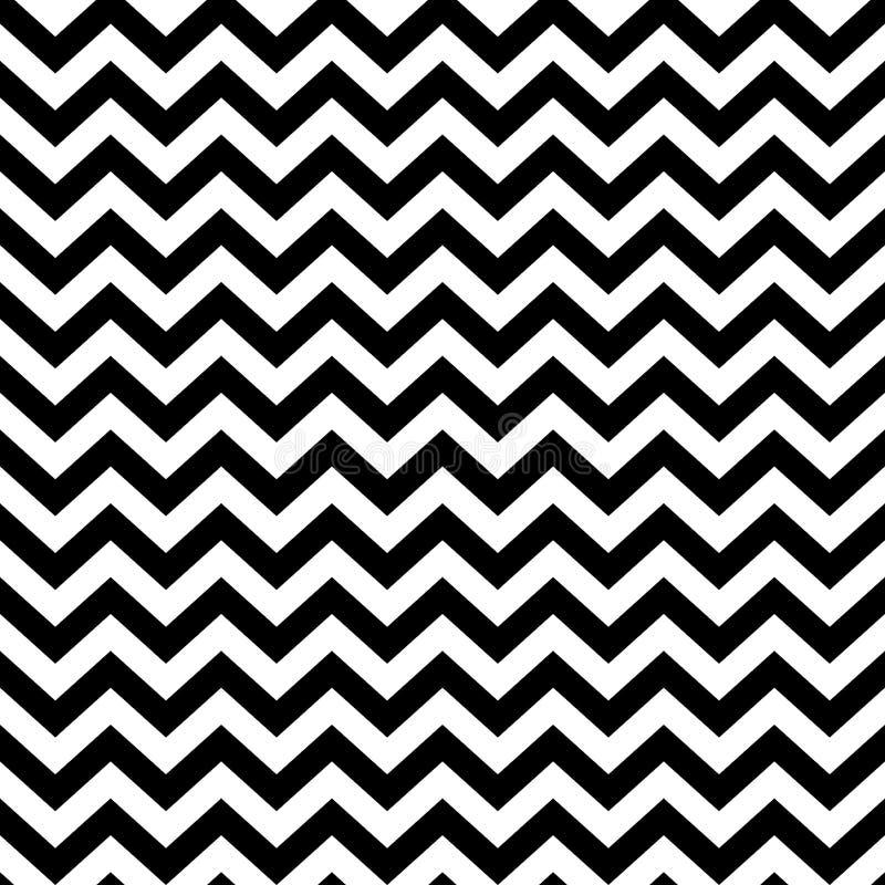 Het populaire uitstekende patroon van de zigzagchevron stock illustratie
