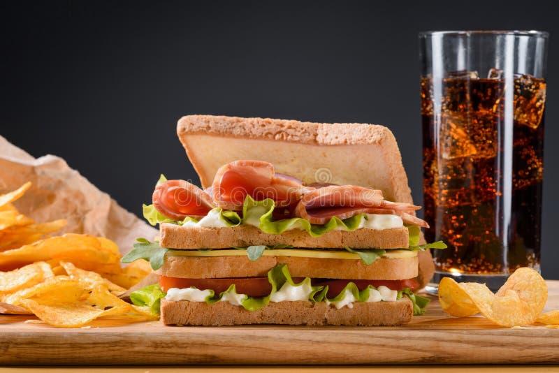 Het populairste voedsel stock fotografie