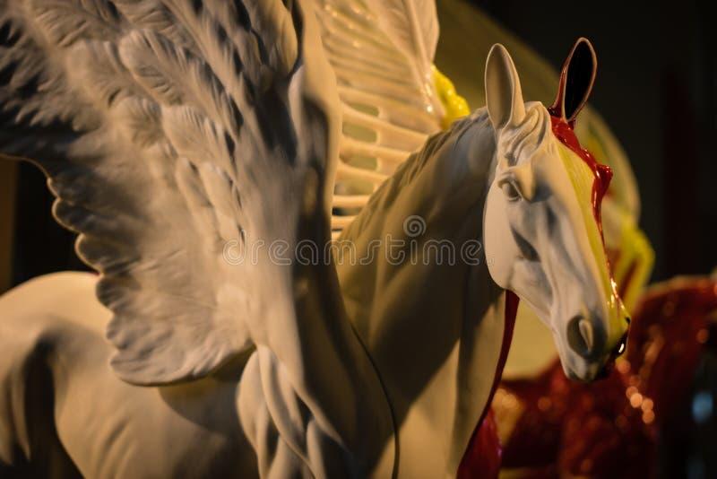 Het porseleinpegasus van M?nchen, mythic schepsel stock foto
