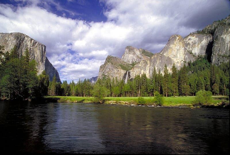 Het Portaal van de Vallei van Yosemite stock foto's