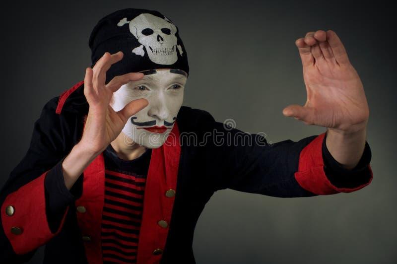 Het portret van bootst piraat na royalty-vrije stock foto