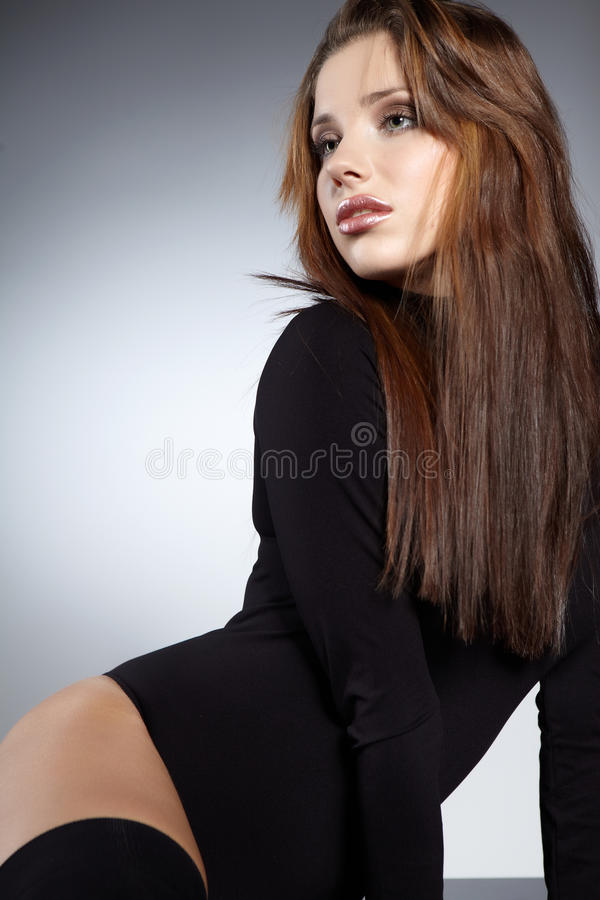 Het Portret van de aantrekkingskracht van sexy vrouw stock afbeeldingen