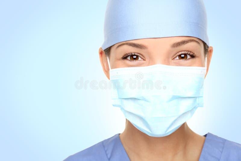 Het portret van de arts/van de verpleegster stock afbeelding