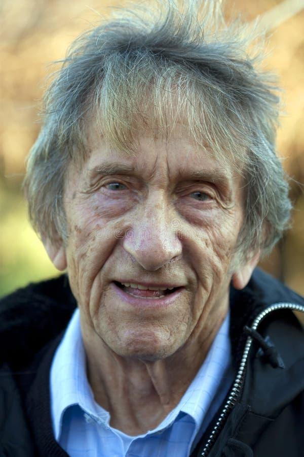 Het portret van de bejaarde royalty-vrije stock foto